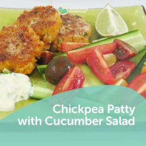 170-Chickpea-Patty-with-Cucumber-Salad