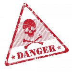 DANGER sign to warn about protecting your fertility from the dangers of heavy metal toxins to your fertility