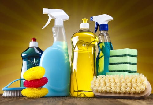 cleaning products and tools