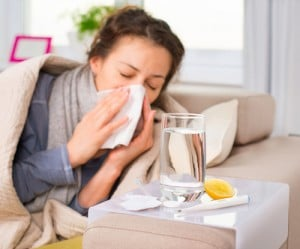 Womens-Health-and-Fertility_Sick-Woman-with-Flu-and-Hay-Fever