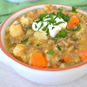 Spiced Coriander Lentil Wild Rice Soup_Fertility Food Revolution_thumb