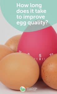 w long does it take to improve egg quality